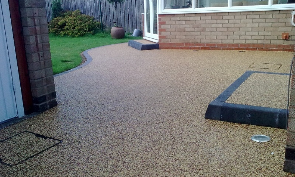 Resin Patio and Steps